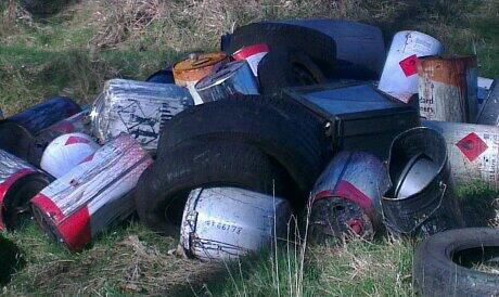 Flytipping in Angus last year.