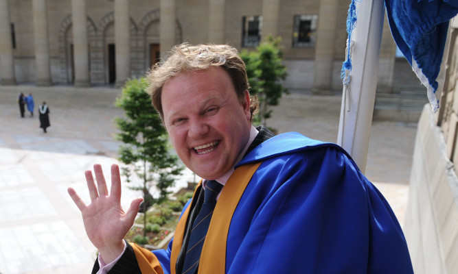 Justin Fletcher (aka Mr Tumble) enjoying his day in Dundee.