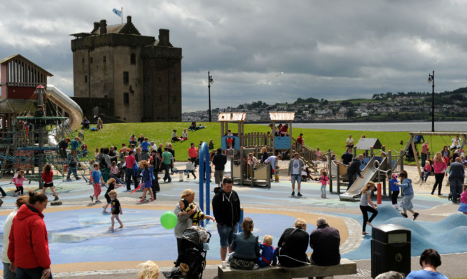 Family fun at last year's Broughty Ferry Gala fete.
