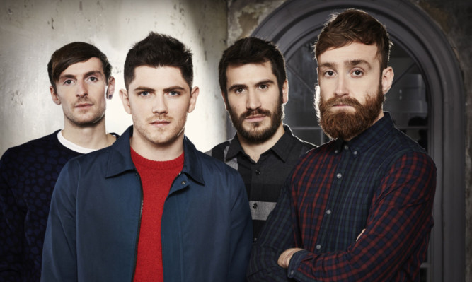 Twin Atlantic have released the T-shirts ahead of their performance at the festival.