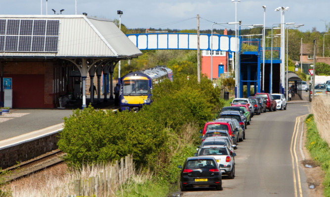 The car park at Leuchars Station will be closed.