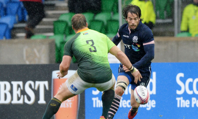 Colin Gregor in action against South Africa.