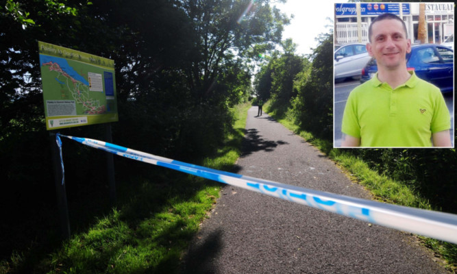 The body of Darryl Fitch was found near Locher Water at Bridge of Weir, Renfrewshire.