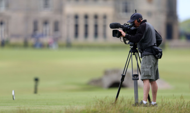 Alex Salmond has criticised the BBC's coverage of The Open.