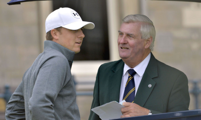Ivor Robson has a reassuring word for one of this year's favourites, Jordan Spieth.