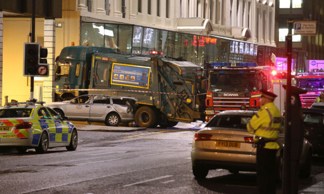 Six people were killed in the incident in Glasgow city centre just before Christmas.