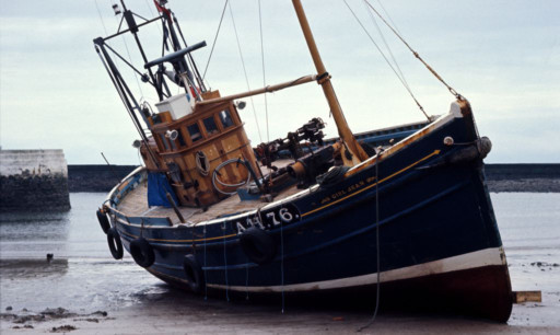 The fishing vessel the Girl Jean in Arbroath in the 1970s.