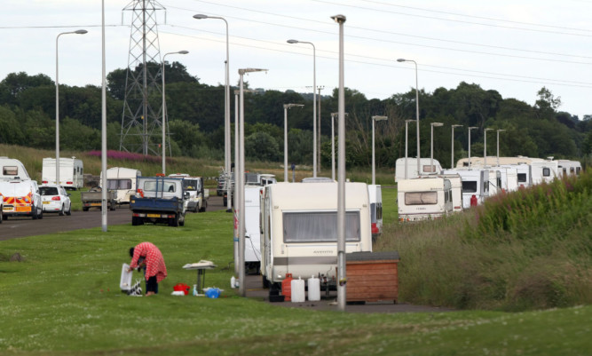 The Travellers have set up camp on Jack Martin Way.