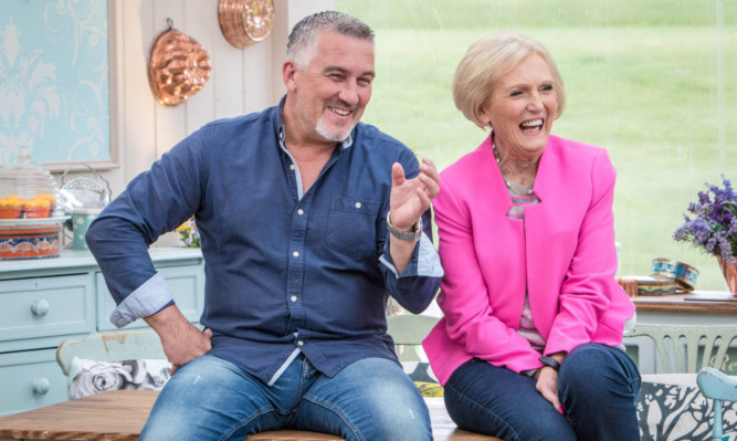Presenters Paul Hollywood and Mary Berry.