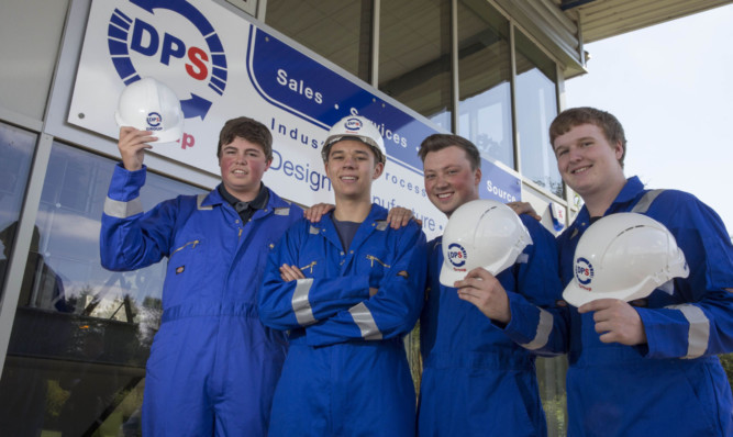 Some of the apprentices at Glenrothes engineering firm DPS Group.