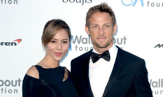Jenson and Jessica Button were on holiday in St Tropez.