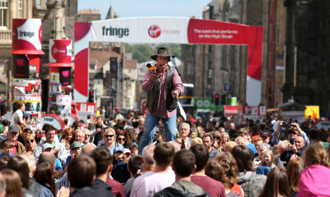 The Edinburgh Fringe Festival until the end of August.