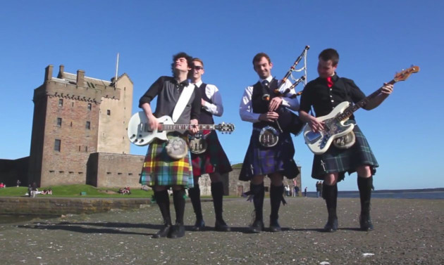 An entirely spontaneous display of happiness at Broughty Ferry Castle.