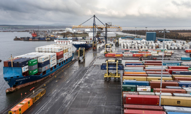Grangemouth marked its 50th anniversary as a container port this weekend.