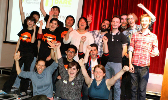 The three Bafta-nominated teams from the Dare ProtoPlay festival  Pixel Tailors, Mild Beast Games and Pictrail.