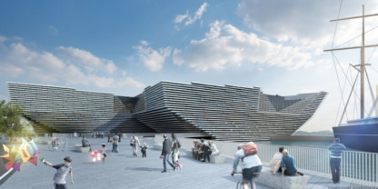 An artist's impression of the V&A at Dundee.