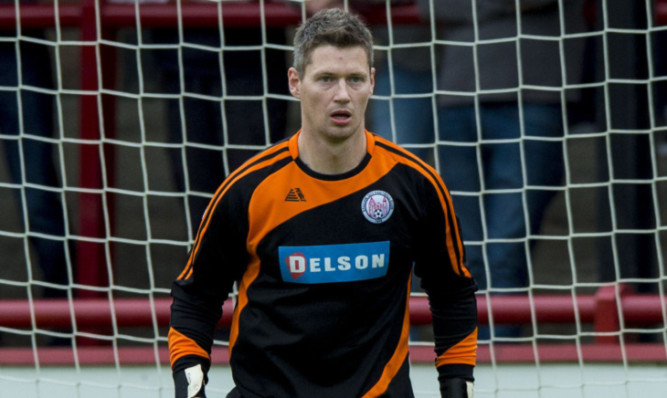 Brechin keeper Graeme Smith was red-carded late in game.