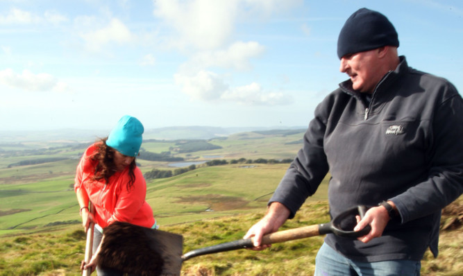 The partnership has already carried out archaeological digs on the Lomond Hills.