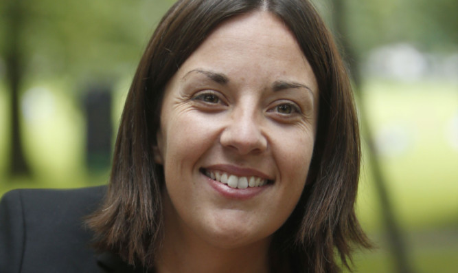 Kezia Dugdale, the new leader of the Scottish Labour Party.