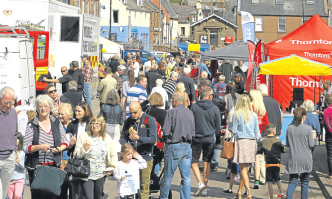A busy scene at the Arbroath Sea Fest on Sunday.