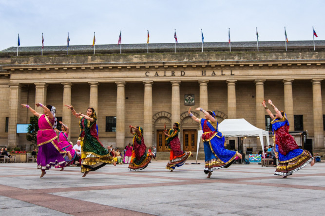 More than 100 people gathered to celebrate the Dundee Together festival. The event included musical performances, political stalls and speeches as well as a march through the city centre.
