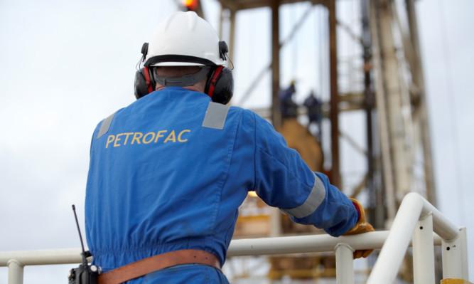 A Petrofac engineer at work.