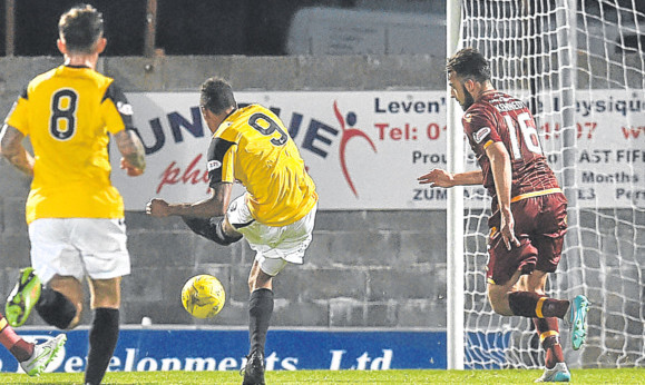 Nathan Austin opens the scoring for East Fife.