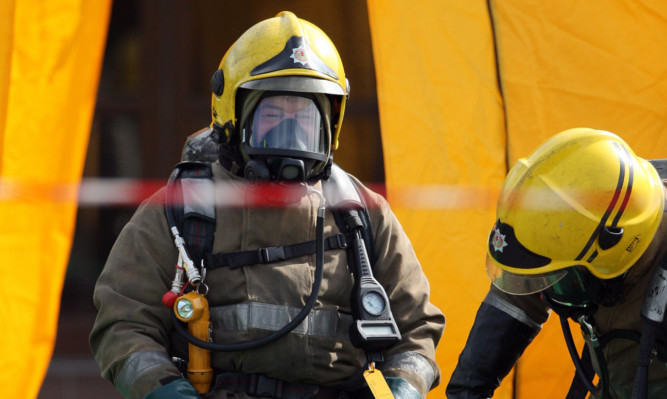 """Rescue services treated the leak as a """"major incident""""."""