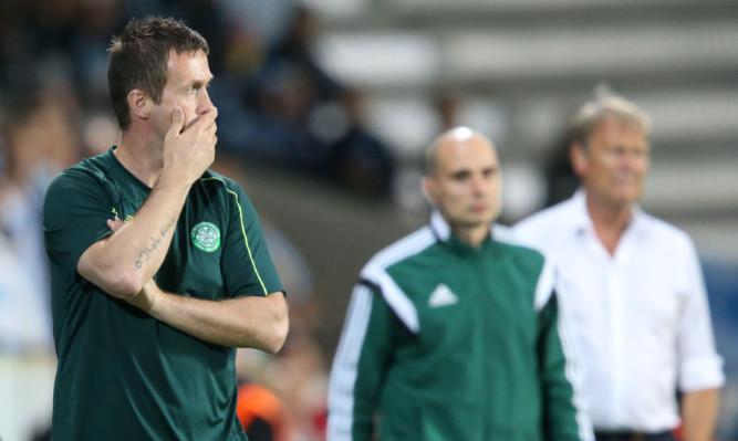 Ronny Deila looks on as Celtic head for the Champions League exit.