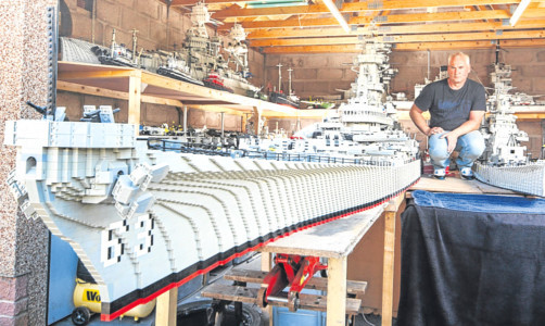 Mr McDonough's USS Missouri is just the latest in a long line of Lego wonders.