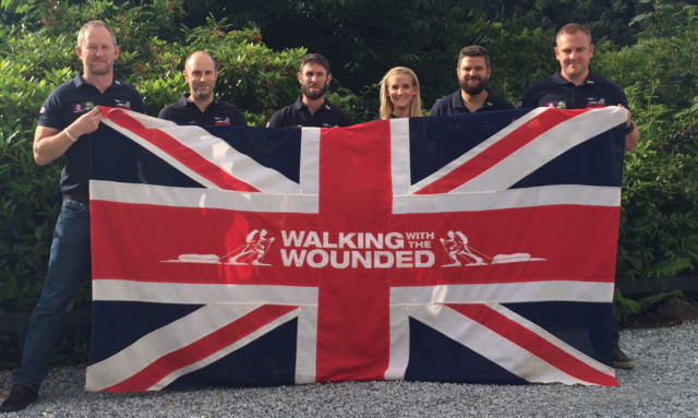 Walking the length and breadth of the United Kingdom. From left: Stewart Hill, Matt Fisher, Scott Ramsey, Kirstie Ennis, Andrew Brement and Alec Robotham.