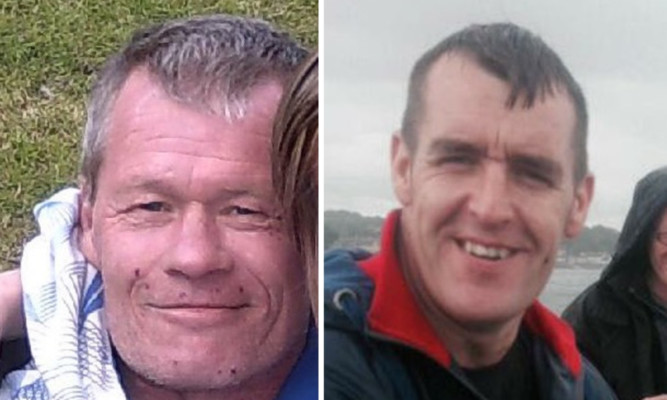 The bodies of David Stead (left) and Jason Buchan remained undiscovered following the tragedy.