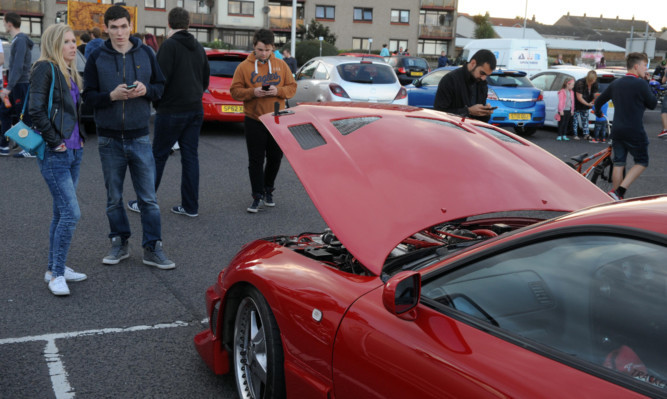 All roads led to Kirkcaldy for modified car fans.