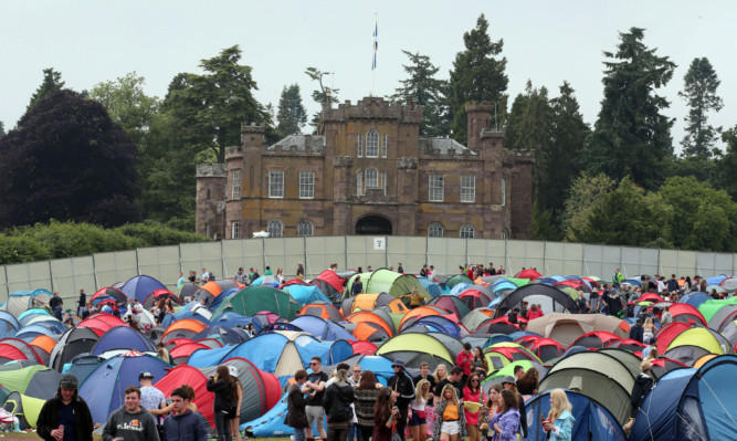 Tens of thousands of music fans were at Strathallan Estate.