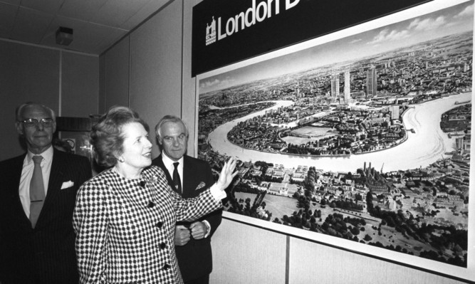 UK Governments have a long history of dressing up London investment  like here at the docklands in the 1980s  as being of equal benefit to the whole nation, says Mr Salmond.