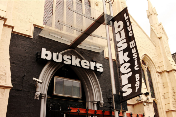 Rutherford attacked his victim in Buskers in Dundee.