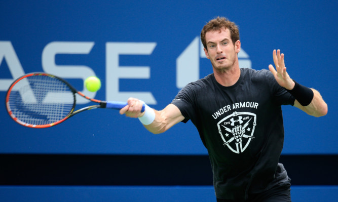 Andy Murray during a practice session.