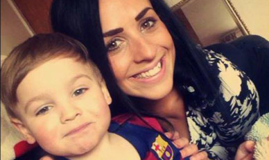 Lydia MacDonald and her son Mason, for whom a fundraising Team Mason campaign was set up.
