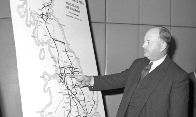 Dr Beeching outlining his plans in the 1960s.
