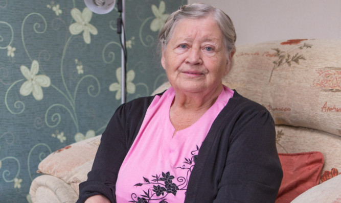 Elizabeth Barrie in her Kirkcaldy home.