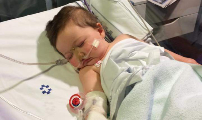 One-year-old Emily Brown was admitted to a hospital in Tenerife.