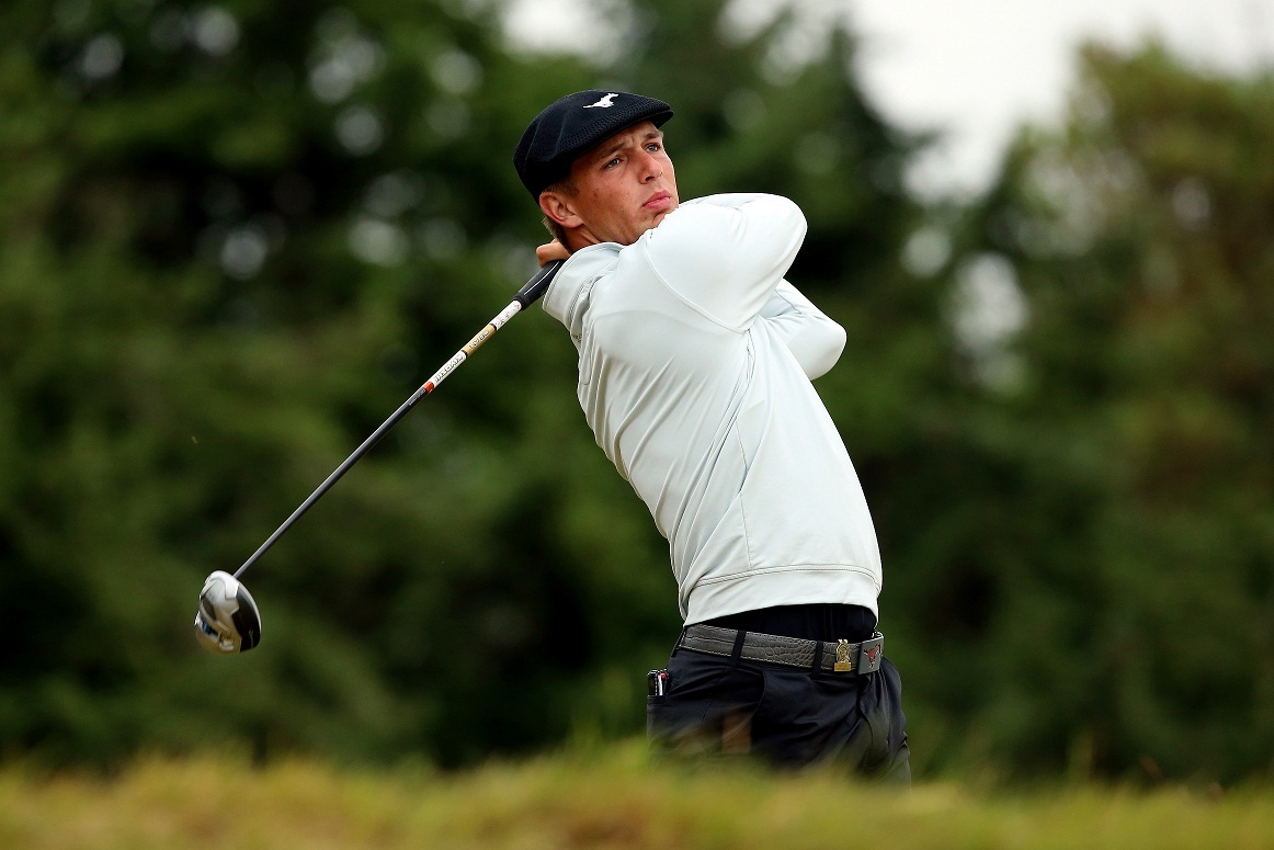 UNIVERSITY PLACE, WA - JUNE 19:  Amateur Bryson DeChambeau of the United States watches his tee shot on the 14th hole during the second round of the 115th U.S. Open Championship at Chambers Bay on June 19, 2015 in University Place, Washington.  (Photo by Andrew Redington/Getty Images)