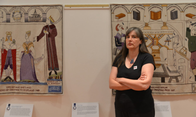 Kirkcaldy Galleries manager Dallas Mechan at the museum where the theft took place.