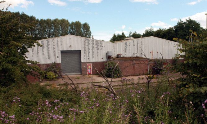The vacant unit at Baldovie Industrial Estate that Active Soccer wants to turn into a sports centre.