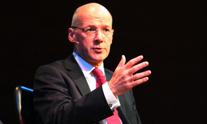 John Swinney at a Courier independence referendum debate in Perth days before the vote.