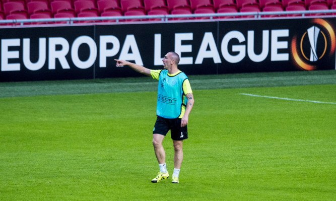 Celtic captain Scott Brown prepares for Ajax.