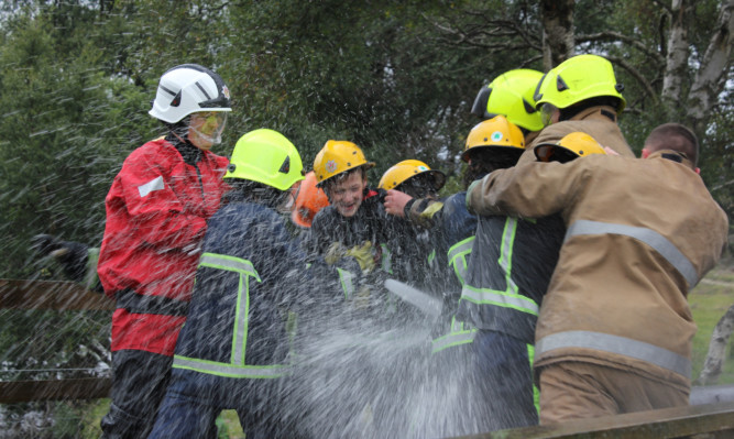 Having a blast: The course aimed to reduce the amount of deliberate fires in the area.