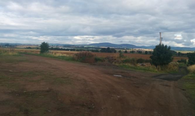 The site of the proposed housing development between Turfbeg and Kirriemuir Road in Forfar.