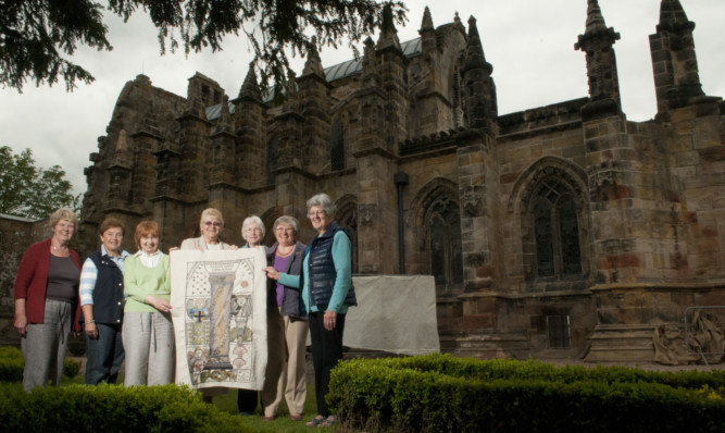 The stitchers who created the Rosslyn Chapel panel of the  Great Tapestry of Scotland have spoken out.