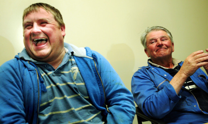 From left: David Irvine and Jim Reid became lost for almost three days.